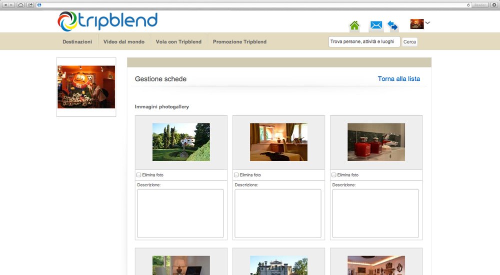 Manage business photogallery on Tripblend