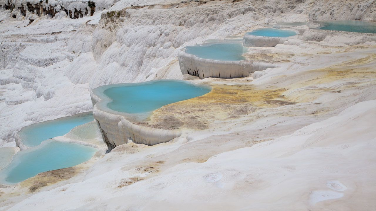 Pamukkale denizli province turkey for Piscine meaning in english